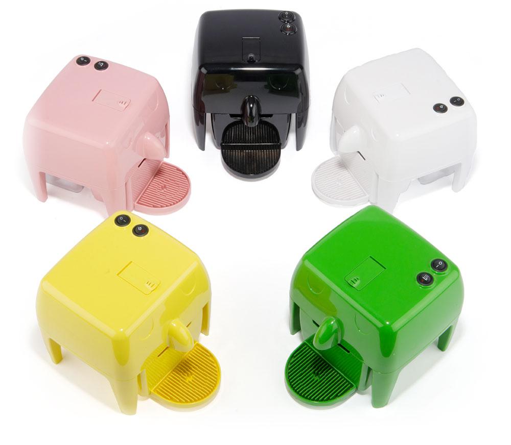 Coff-e Machine - Macchina da caffè a capsule compatta, piccola, colorata e simpatica - Coff-e System