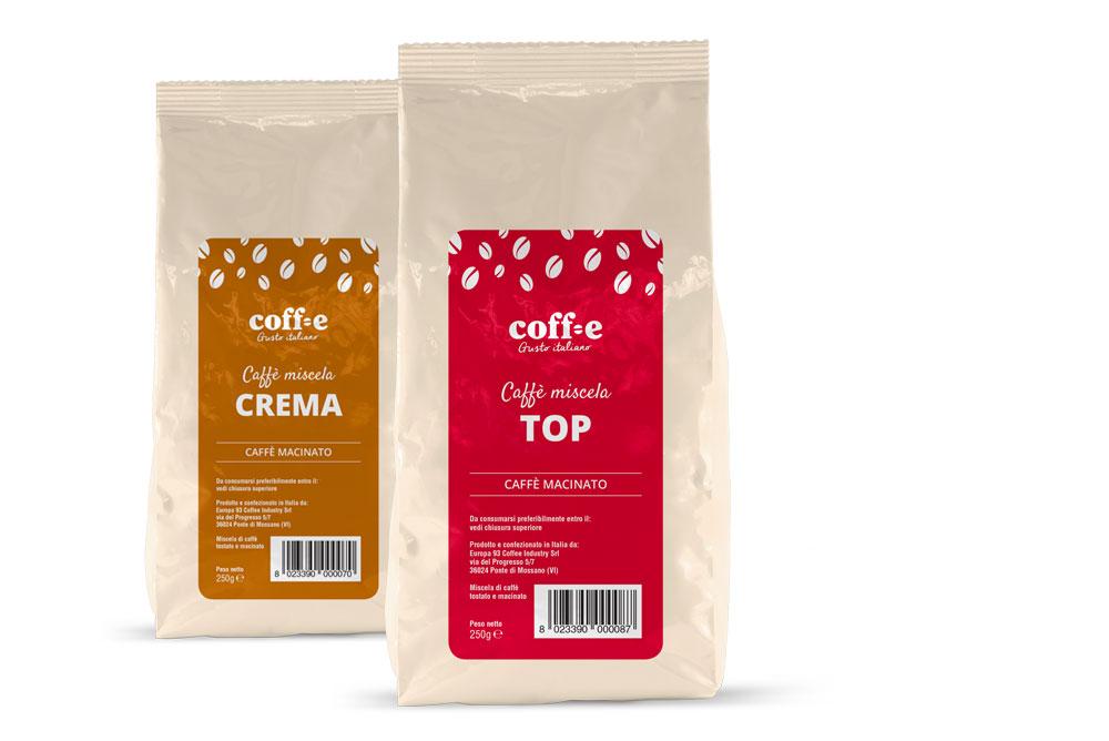 Vendita caffè macinato e grani online da torrefazione artigianale - COFF-E
