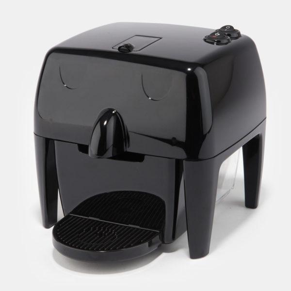 Coff-e Machine - Macchina da caffè a capsule nera compatta, piccola e simpatica - Coff-e System