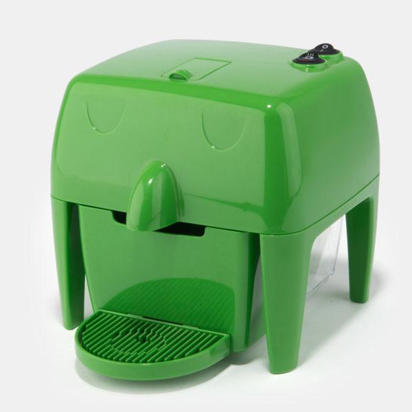 Coff-e Machine - Macchina da caffè a capsule verde compatta, piccola e simpatica - Coff-e System