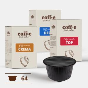 Capsule compatibili Nestlé Dolce Gusto® - Miscele Caffè Robusta, Arabica e Caffè decaffeinato – Coff-e