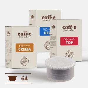 Capsule compatibili Lavazza Espresso Point® - Miscele Caffè Robusta, Arabica e Caffè decaffeinato – Coff-e