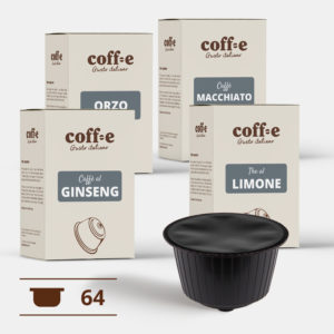 Capsule compatibili Nestlé Dolce Gusto® - Ginseng, Orzo, Caffè macchiato, The al limone – Coff-e