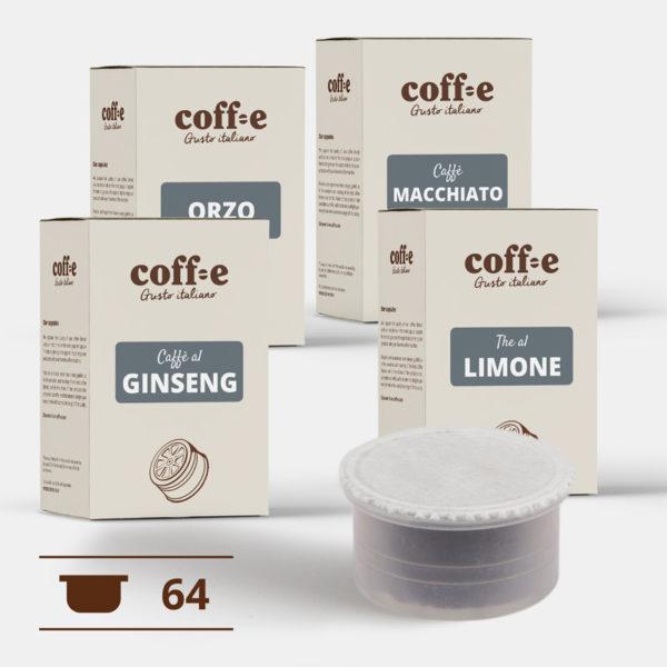 Capsule compatibili Lavazza Espresso Point® - Ginseng, Orzo, Caffè macchiato, The al limone – Coff-e