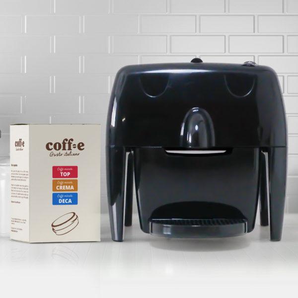 Coff-e Machine - Macchina da caffè a capsule nera e kit assaggio dei nostri caffè torrefatti artigianalmente - Coff-e System