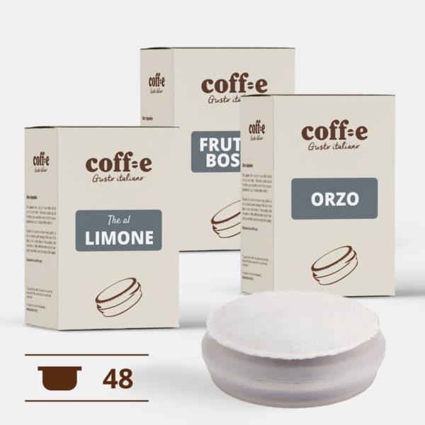 Kit degustazione capsule the e bevande - qualità artigianale - dal produttore direttamente a casa tua - prodotto 100% Made in Italy - COFF-E