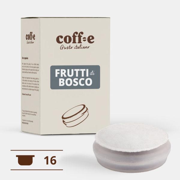 Capsule per macchine da caffè gusto frutti di bosco - tutta la qualità dei nostri prodotti artigianali nel formato di capsula Coff-e System - COFF-E
