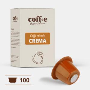 100 capsule caffè robusta compatibili Nespresso® - caffè torrefatto artigianalmente nel nostro stabilimento di Vicenza - COFF-E
