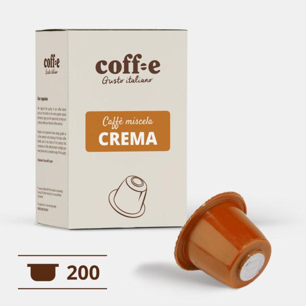 200 capsule caffè robusta compatibili Nespresso® - caffè torrefatto artigianalmente nel nostro stabilimento di Vicenza - COFF-E