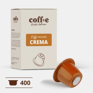400 capsule caffè robusta compatibili Nespresso® - caffè torrefatto artigianalmente nel nostro stabilimento di Vicenza - COFF-E