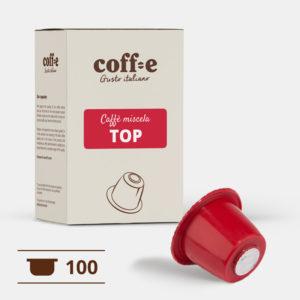 100 capsule caffè arabica compatibili Nespresso® - caffè torrefatto artigianalmente nel nostro stabilimento di Vicenza - COFF-E