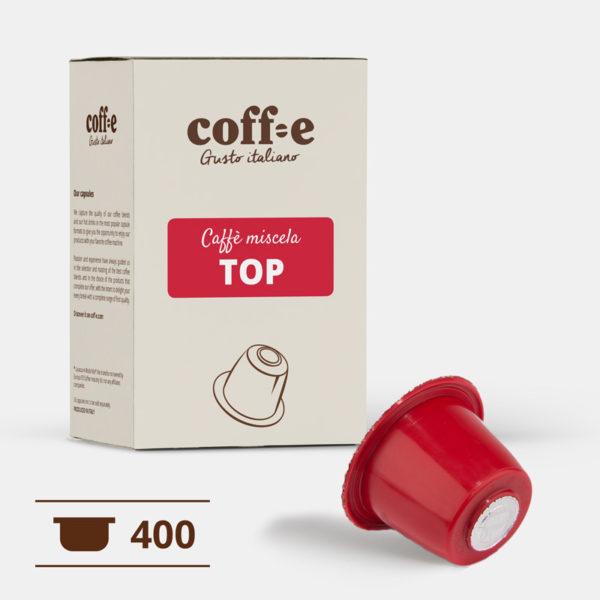 400 capsule caffè arabica compatibili Nespresso® - caffè torrefatto artigianalmente nel nostro stabilimento di Vicenza - COFF-E