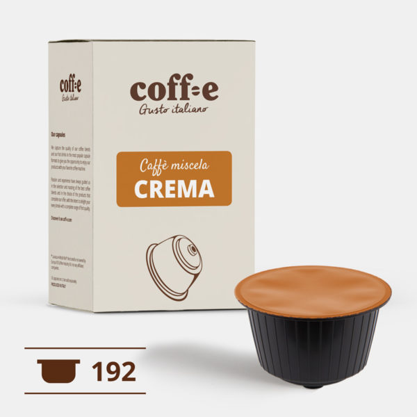 192 capsule caffè robusta compatibili Dolce Gusto ® Nescafè - Torrefazione artigianale - dal produttore al consumatore - Coff-e