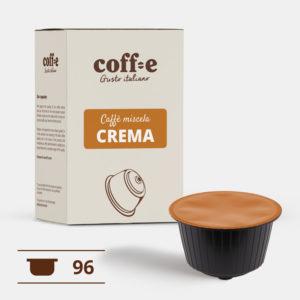 96 capsule compatibili Dolce Gusto ® Caffè robusta Nescafè - Torrefazione artigianale - dal produttore al consumatore - Coff-e