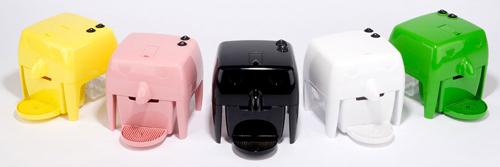 Coff-e Machine - Macchina da caffè a capsule compatta, piccola, colorata e simpatica - Coff-e System - COFF-E