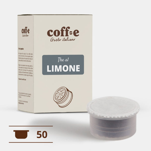 50 capsule compatibili Lavazza Espresso Point - The al limone - COFF-E
